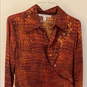 Stretchy silk DVF dress size 6